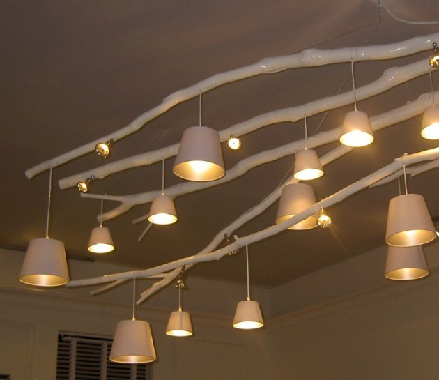 Thế Giới Đèn Gỗ - 8 ý tưởng tự làm đèn chùm bằng gỗ 2