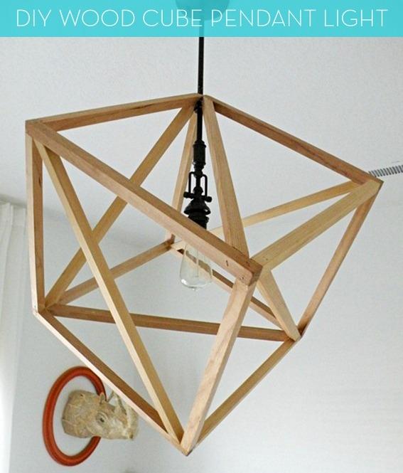 Thế Giới Đèn Gỗ - 8 ý tưởng tự làm đèn chùm bằng gỗ 6