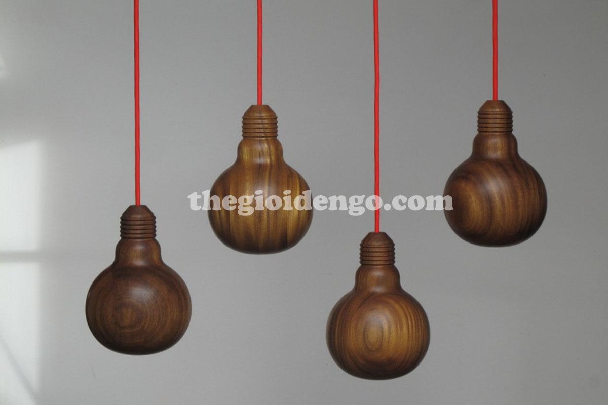 Thế Giới Đèn Gỗ - Đèn gỗ trang trí tiện nguyên khối 2