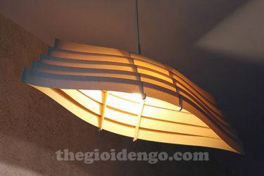 Thế Giới Đèn Gỗ - Đèn gỗ trang trí veneer dgvn104