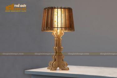 Thế giới đèn gỗ - Đèn gỗ trang trí để bàn TGDG-13