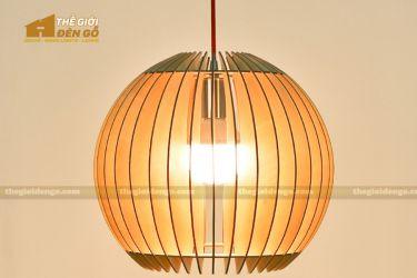 Thế giới đèn gỗ - Đèn gỗ trang trí cầu tròn