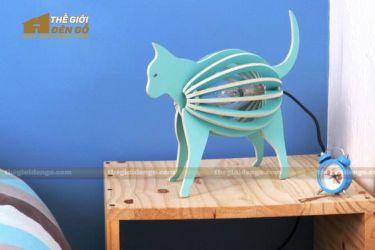 Thế Giới Đèn Gỗ - Đèn gỗ trang trí con mèo