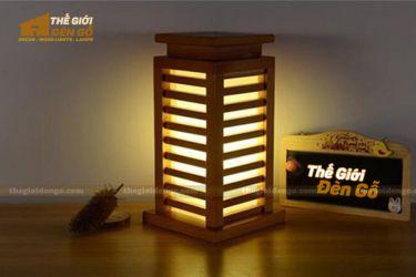 Thế giới đèn gỗ - Đèn gỗ trang trí để bàn TGDG-07