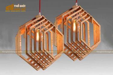 Thế giới đèn gỗ - Đèn gỗ trang trí lục giác