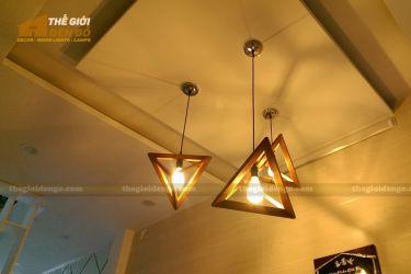 Thế giới đèn gỗ - Đèn gỗ trang trí tam giác đều 6
