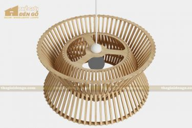 Thế giới đèn gỗ - Đèn gỗ trang trí trống đồng