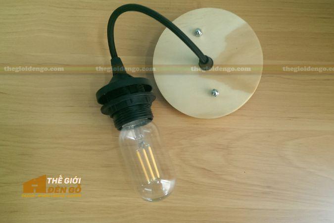 Thế giới đèn gỗ - Đèn Led Filament T45