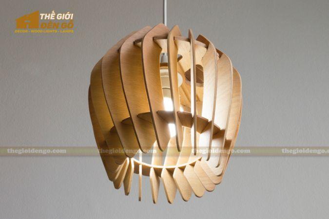 Thế Giới Đèn Gỗ - Đèn gỗ trang trí dg237-4