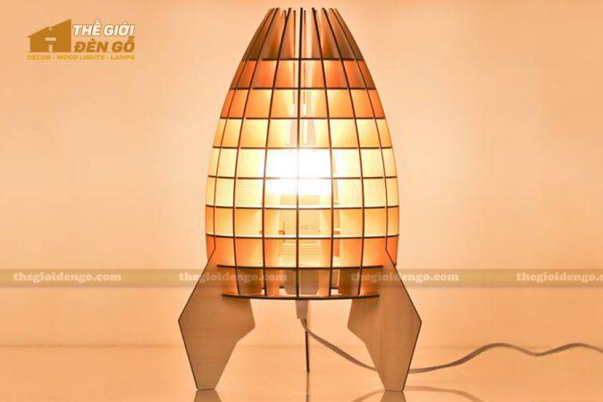 Thế giới đèn gỗ - Đèn gỗ trang trí để bàn TGDG-09-1