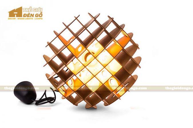 Thế Giới Đèn Gỗ - Đèn gỗ trang trí tổ ong 3