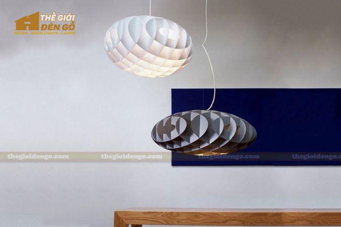 Thế Giới Đèn Gỗ - Đèn gỗ trang trí tổ ong 4