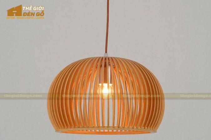 Thế giới đèn gỗ - Đèn gỗ trang trí bát tròn 2-1