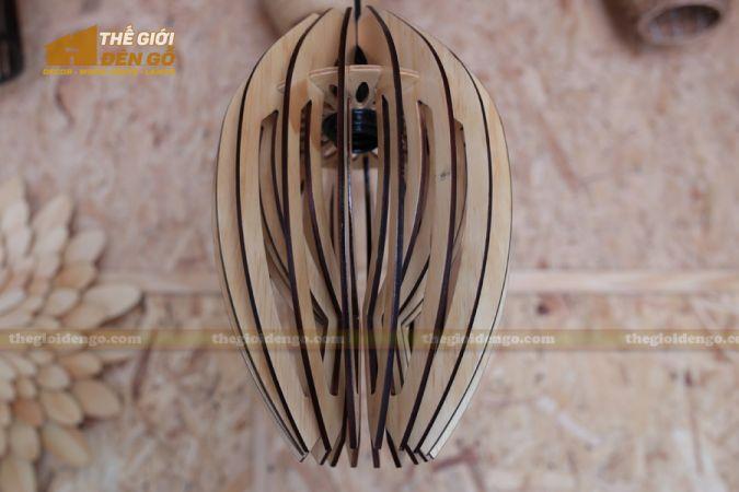 Thế giới đèn gỗ - Đèn gỗ trang trí búp sen 2