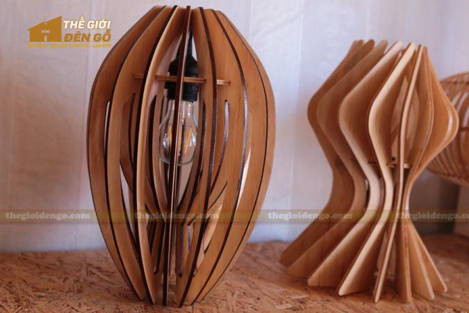 Thế giới đèn gỗ - Đèn gỗ trang trí búp sen 3