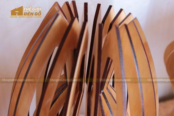 Thế giới đèn gỗ - Đèn gỗ trang trí búp sen 4