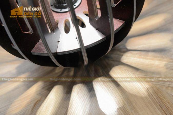 Thế giới đèn gỗ - Đèn gỗ trang trí búp sen 5