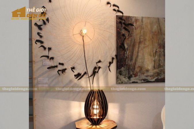 Thế giới đèn gỗ - Đèn gỗ trang trí búp sen 6