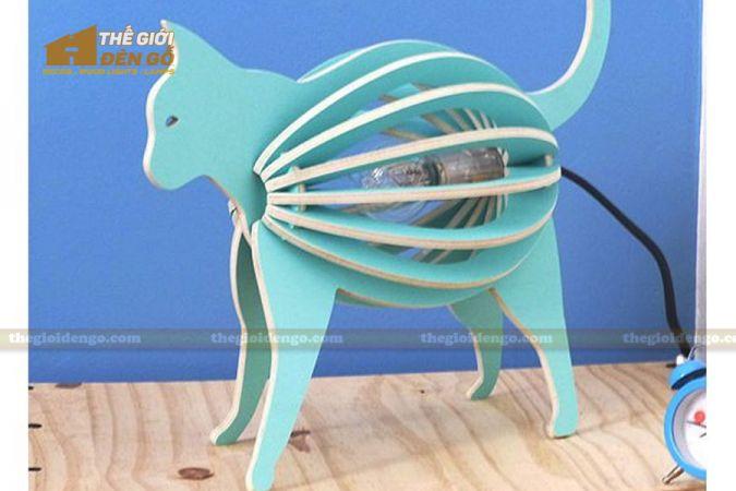 Thế Giới Đèn Gỗ - Đèn gỗ trang trí con mèo 3