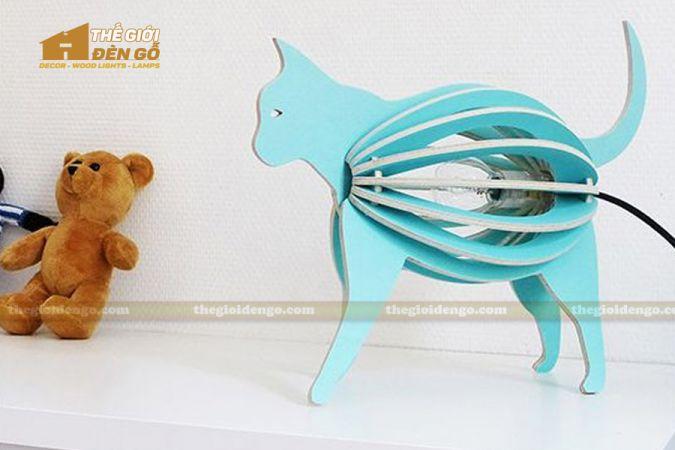 Thế Giới Đèn Gỗ - Đèn gỗ trang trí con mèo 4