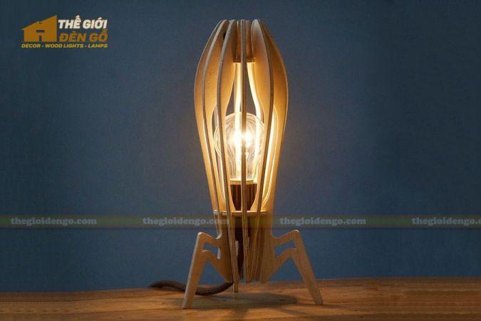 Thế giới đèn gỗ - Đèn gỗ trang trí để bàn TGDG-01