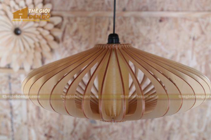 Thế Giới Đèn Gỗ - Đèn gỗ trang trí đĩa bay 2
