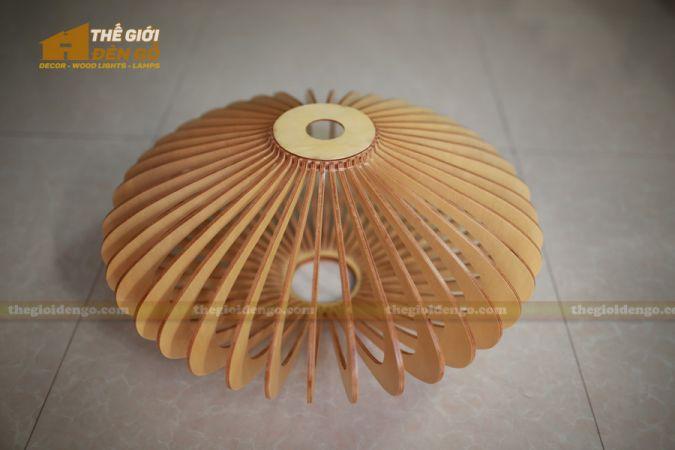 Thế Giới Đèn Gỗ - Đèn gỗ trang trí đĩa bay 3