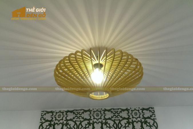 Thế Giới Đèn Gỗ - Đèn gỗ trang trí đĩa bay 6