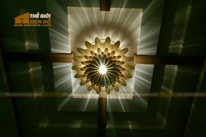 thegioidengo.com - Đèn gỗ trang trí hoa cúc 9
