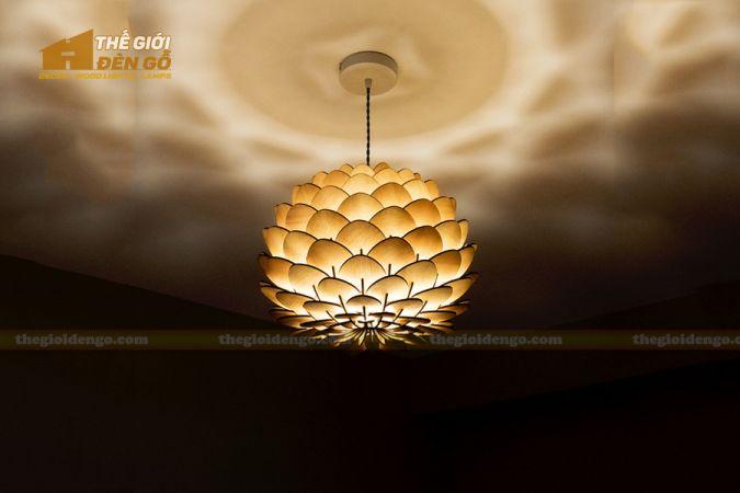 Thế Giới Đèn Gỗ - Đèn gỗ trang trí hoa cúc bất tử 5