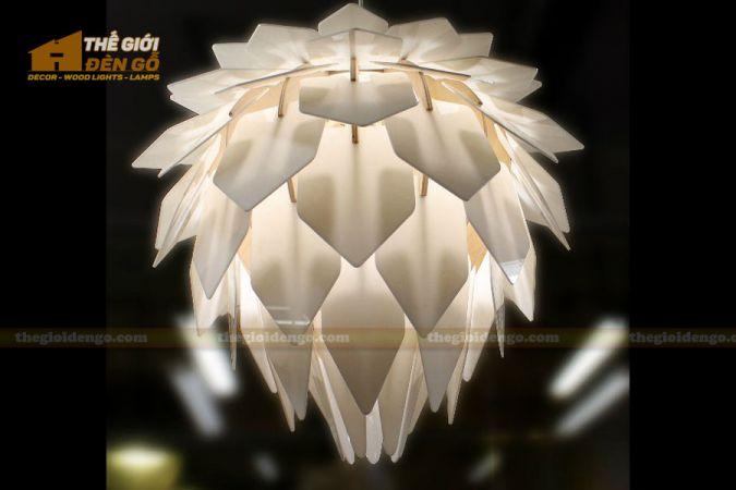 Thế Giới Đèn Gỗ - Đèn gỗ trang trí hoa quỳnh 2