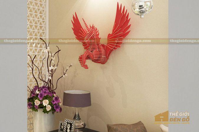 Thế Giới Đèn Gỗ - Đèn gỗ trang trí ngựa Pegasus 1
