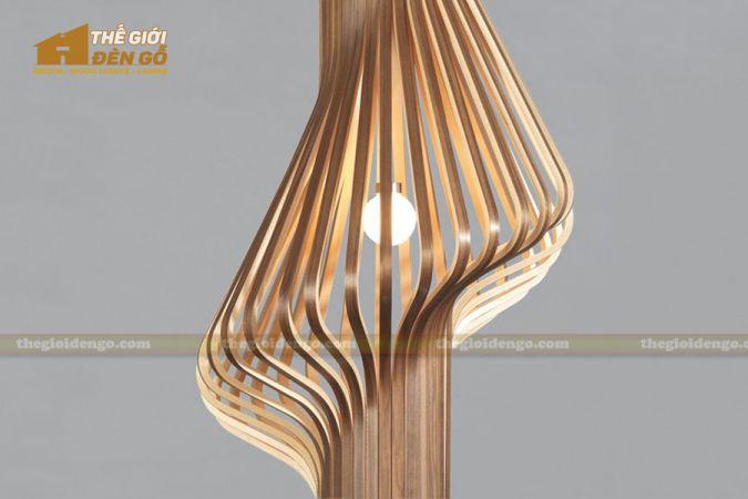 Thế giới đèn gỗ - Đèn gỗ trang trí ống khói 1