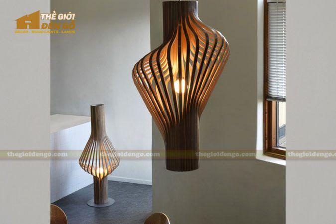 Thế giới đèn gỗ - Đèn gỗ trang trí ống khói 2