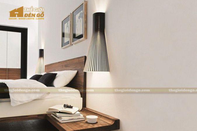 Thế Giới Đèn Gỗ - Đèn gỗ trang trí treo tường DGW001-2