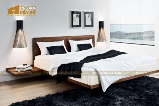 Thế Giới Đèn Gỗ - Đèn gỗ trang trí treo tường DGW001-3