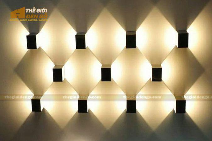 Thế giới đèn gỗ - Đèn gỗ trang trí treo tường DGW005-1