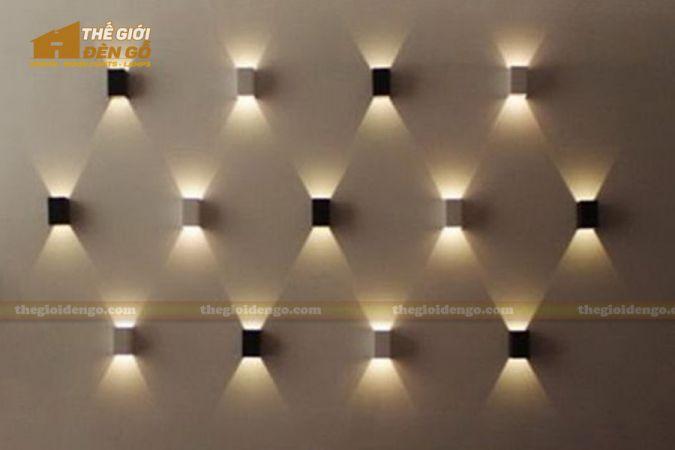 Thế giới đèn gỗ - Đèn gỗ trang trí treo tường DGW005-2