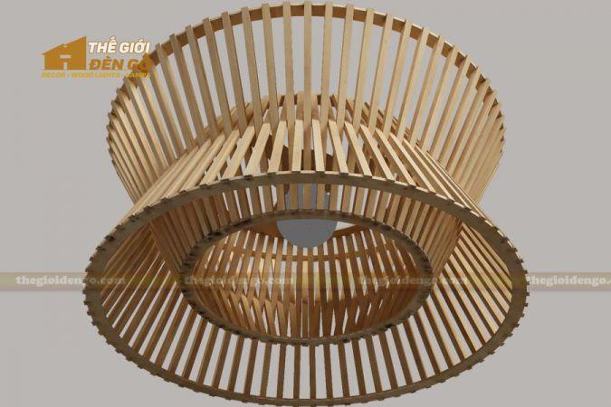 Thế giới đèn gỗ - Đèn gỗ trang trí trống đồng 1