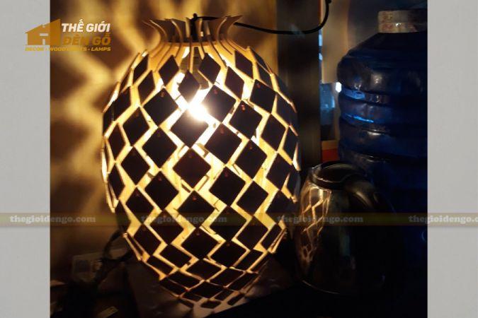 Thế Giới Đèn Gỗ - Đèn gỗ trang trí trứng rồng.