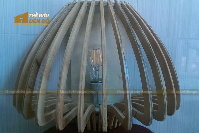 Thế giới đèn gỗ - Đèn gỗ trang trí búp nấm 2