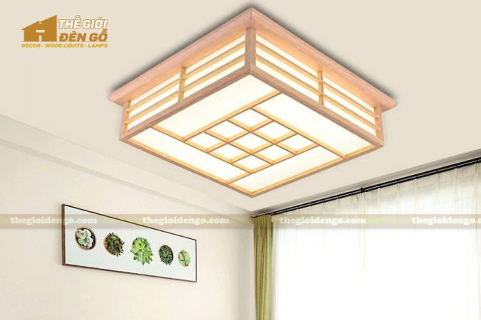 Thế giới đèn gỗ - Hộp đèn gỗ DG116