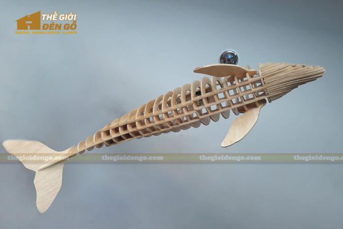 Thế Giới Đèn Gỗ - Đèn gỗ trang trí cá heo 2