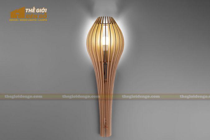Thế giới đèn gỗ - Đèn gỗ trang trí treo tường DGW039 - 1