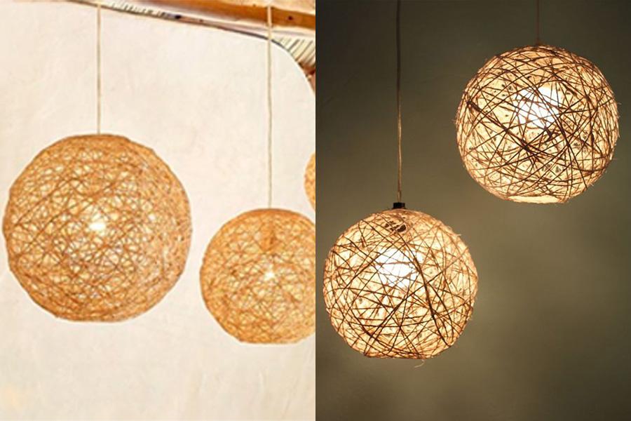 Thế Giới Đèn Gỗ - Hướng dẫn làm đèn trang trí handmade bằng dây thừng và bóng bay 8
