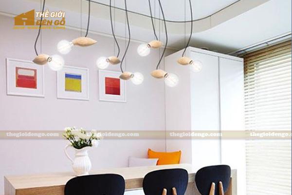 Thế Giới Đèn Gỗ - 8 mẫu đèn trang trí gỗ cho phòng ăn đẹp lung linh 16
