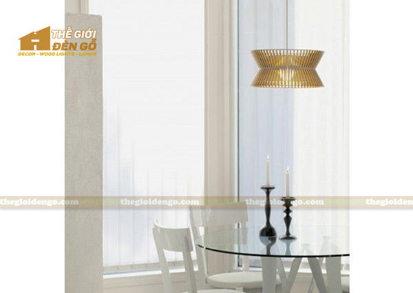 Thế Giới Đèn Gỗ - 8 mẫu đèn trang trí gỗ cho phòng ăn đẹp lung linh 4