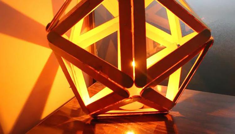 Thế Giới Đèn Gỗ - Hướng dẫn làm đèn ngủ handmade từ que kem gỗ 11