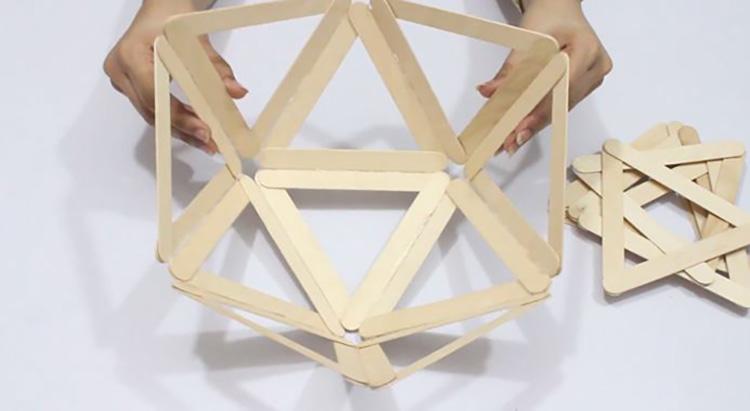Thế Giới Đèn Gỗ - Hướng dẫn làm đèn ngủ handmade từ que kem gỗ 6