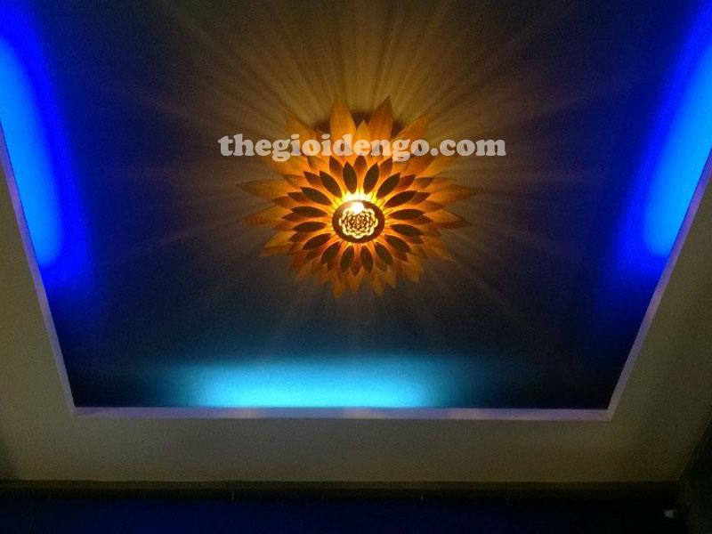 Thế Giới Đèn Gỗ - Đèn gỗ trang trí hoa hướng dương 1